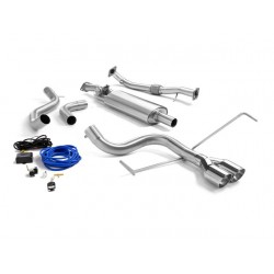 Silencieux inter. inox Tube arrière inox - 2 sorties rondes centrales Sport Line 80mm - Ø60mm Ragazzon Abarth 695 (typ 312) 1.4 Turbo (132 / 140kW) 2009-