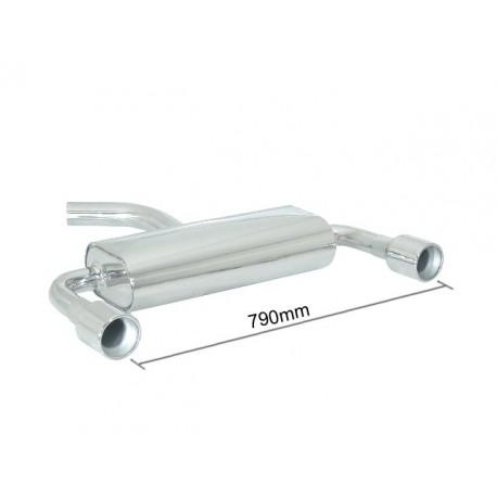 Silencieux arrière duplex inox g/d - 1 sortie ronde 102mm Ragazzon Audi A3 (typ 8P) 2003→2013 A3 1.6i (75kW) - 1.6 FSI (85kW) - 2.0 FSI (110kW) 05/2003→