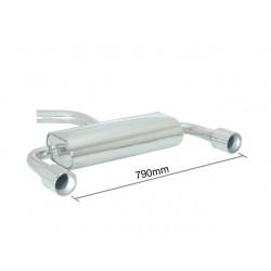 Silencieux arrière duplex inox g/d - 1 sortie ronde 102mm Ragazzon Audi A3 (typ 8P) 2003→2013 A3 1.9TDi (77kW) - 2.0TDi (100/103kW) 05/2003→