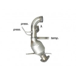 Catalyseur Gr.N tube suppression FAP Gr.N inox - mot. Z22D1 (2231cc) Euro5Ragazzon Chevrolet Captiva 2.2D (120kW) 2011-