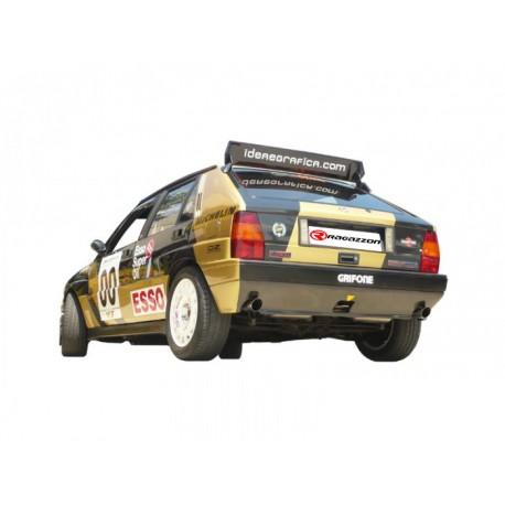 Tubes arrière Gr.N inox - 1 sortie ronde 60mm Ragazzon Lancia Delta 2.0 Turbo HF Integrale 8V (136kW) 1987→1991