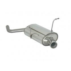 Silencieux arrière inox - 1 sortie ronde 80mm Ragazzon Mini R50 One 1.4D (55Kw) 09/2001-