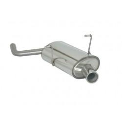 Silencieux arrière inox - 1 sortie ronde 80mm Ragazzon Mini R50 One 1.6 I (66Kw) Restyling 09/2001 - 10/2006
