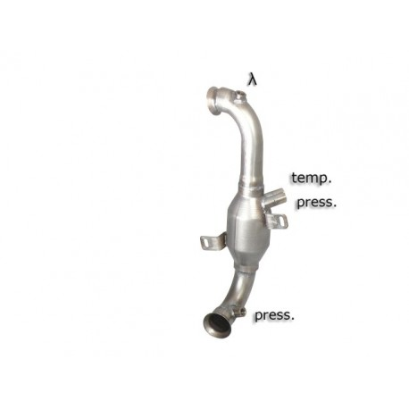 Catalyseur Gr.N tube suppression FAP Gr.N inox - mot.9HR (1560cc)Ragazzon Peugeot 207 1.6HDi (82kW) 2010-