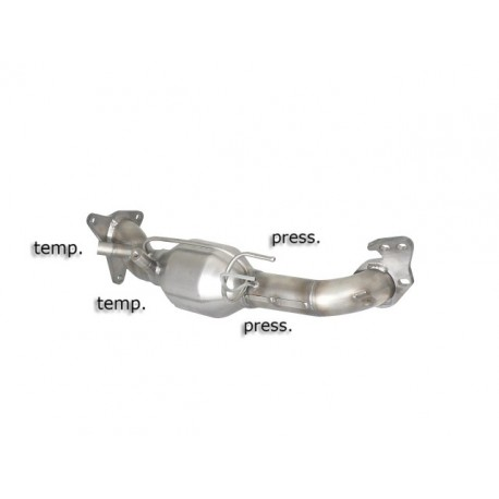 Catalyseur Gr.N tube suppression FAP Gr.N inoxRagazzon Subaru Impreza 2008- 2.0D (110kW) 2008-