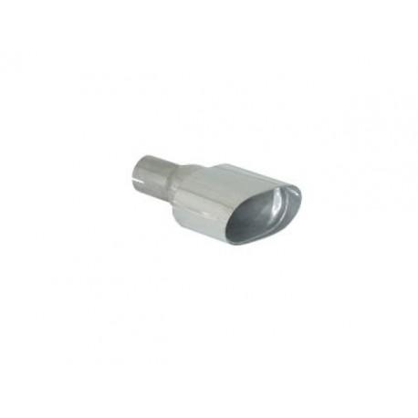 Sortie d'échappement de gauche ovale 128x80mm inox - diamètre intérieur du tube d'entrée 50 mm - longueur 225 mm Ragazzon Universel Embouts OV.128x80