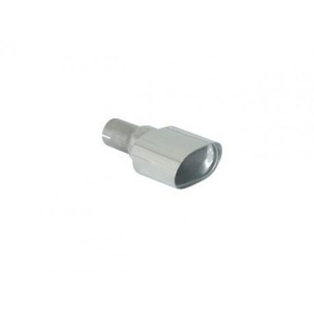 Sortie d'échappement de droite ovale 128x80mm inox - diamètre intérieur du tube d'entrée 50 mm - longueur 225 mm Ragazzon Universel Embouts OV.128x80