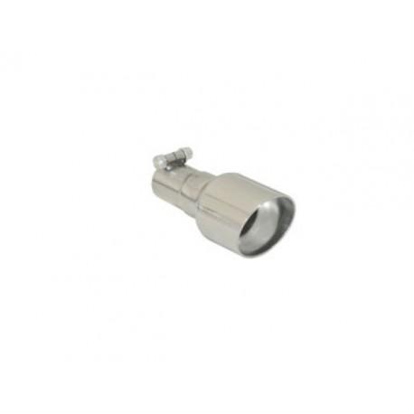 Sortie d'échappement ronde Sport Line 90mm inox - diamètre intérieur du tube d'entrée 50 mm - longueur 225 mm Ragazzon Universel Embouts RO.90