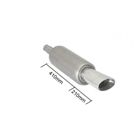 Silencieux arrière universal inox - 1 sortie ovale Sport Line 110 x 65mm - à souder Ragazzon Universel Pots d'échappement RO.150mm