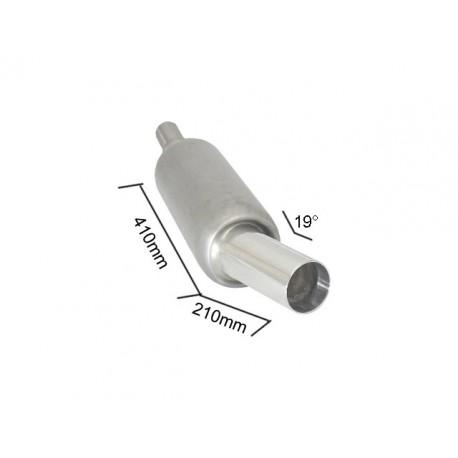 Silencieux arrière universal inox - 1 sortie ronde Sport Line 90mm - à souder - sortie inclinée à 19° Ragazzon Universel Pots d'échappement RO.150mm