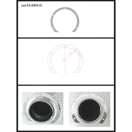 Protection esthétique inox ronde ouverte pour sortie ronde 70mm Ragazzon Universel Protections Estètiques View All