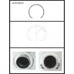 Protection esthétique inox ronde ouverte pour sortie ronde 80mm Ragazzon Universel Protections Estètiques View All