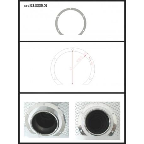 Protection esthétique inox ronde ouverte pour sortie ronde 90mm Ragazzon Universel Protections Estètiques View All