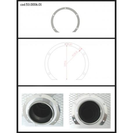 Protection esthétique inox ronde ouverte pour sortie ronde 102mm Ragazzon Universel Protections Estètiques View All