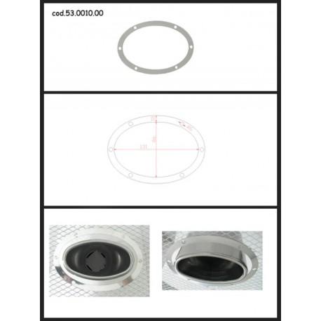 Protection esthétique inox ovale fermée pour sortie ovale 115x70mm Ragazzon Universel Protections Estètiques View All