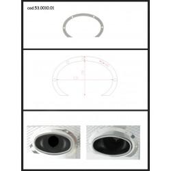 Protection esthétique inox ovale ouverte pour sortie ovale 115x70mm Ragazzon Universel Protections Estètiques View All