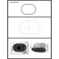 Protection esthétique inox ovale fermée pour sortie ovale 128x80mm Ragazzon Universel Protections Estètiques View All