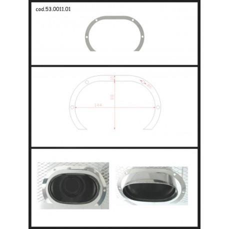 Protection esthétique inox ovale ouverte pour sortie ovale 128x80mm Ragazzon Universel Protections Estètiques View All