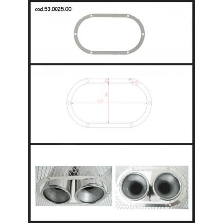 Protection esthétique inox ovale fermée pour sorties rondes 2x70mm Ragazzon Universel Protections Estètiques View All