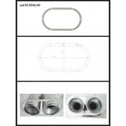 Protection esthétique inox ovale fermée pour sorties rondes 2x80mm Ragazzon Universel Protections Estètiques View All