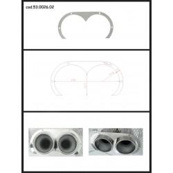Protection esthétique inox ovale ouverte pour sorties rondes 2x80mm Ragazzon Universel Protections Estètiques View All