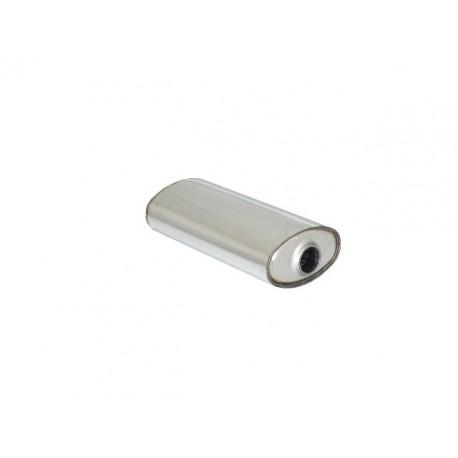 Silencieux universal oval inox 190x110 mm - longueur 450 mm - tube perforé diamètre 50 mm Ragazzon Universel Silencieux OV.195x115mm