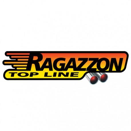 Silencieux arrière inox - 1 sortie ovale Sport Line 135x90mm Ragazzon Volkswagen Golf V 1.9TDi (66kW / 77kW) - 2.0TDi (100kW / 103kW) 05/2003-
