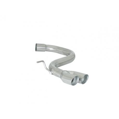 Tube arrière Gr.N inox - 2 sorties rondes Sport Line 70mm décalées Ragazzon Volkswagen Golf V 2.0 Turbo FSI GTI (147/169kW) 11/2003-