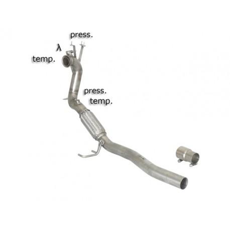 Tube décata. tube suppression FAP Gr.N inox - mot.CEGA (1968cc) 2009→2012Ragazzon Volkswagen Scirocco(13) 2.0TDi DPF (103kW) 2008→2014