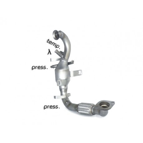 Catalyseur Gr.N tube suppression FAP Gr.N inoxRagazzon Volvo C30 (typ M) 1.6TD (84kW) 2010→2012