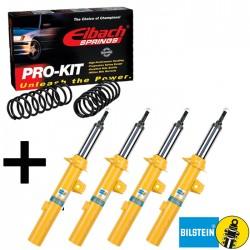 Kit B6 + Eibach Peugeot 106 phase II 1.0i, 1.1i, 1.4i, 1.6i, 1.5D, Rallye, 1.6 S16 | 04/1996→