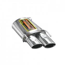 Silencieux arrière Gauche 120 x 80 Supersprint Alfa Romeo BRERA / SPIDER 2.2 JTS 2006→
