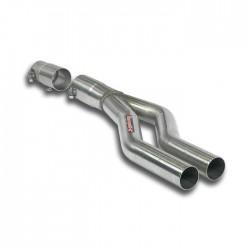 Tube adaptateur pour silencieux central d'origine Supersprint Audi A4 B6/B7 Berline+Break Quattro 1.9 TDi (115-130ch) 01-08