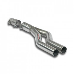 Tube adaptateur pour silencieux central d'origine Supersprint Audi A4 B7 Berline+Break Quattro 2.0 TDi (140ch-170ch) 05-08