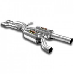 "Silencieux central + ""X-Pipe"" Supersprint Audi A6 C6 Typ 4F Allroad 3.2 FSI V6 (255ch) 2006-2009"