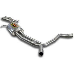 "Silencieux central + ""X-Pipe"" Supersprint Audi A6 C7 Typ 4G Allroad 3.0 TFSI V6 310-333ch 2012-"