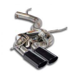 """Silencieux arrière 90x70 """"noir"""" avec valve Supersprint Audi RS3 8P Sportback Quattro 2.5 TFSI (340ch) 2011→(Ø80mm)"""