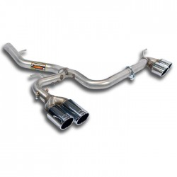 Tube de fuite DroiteOO80 - GaucheOO80 Supersprint BMW Série 1 E81 3 Portes 123d 07→