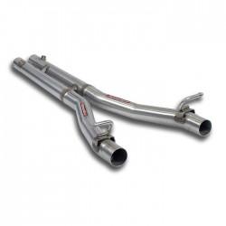 "Tube Central kit Droite + Gauche avec ""H-Pipe"". - Remplace silencieux central d'origine Supersprint Ferrari 550 V12 Maranello"