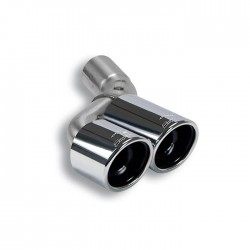 Tube adaptateur pour silencieux central d'origine Droite + Sortie OO90 Supersprint PORSCHE 911 (997.2) Carrera S-4S 3.8i 385ch 09-