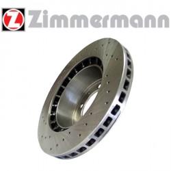Disque de frein sport/percé Avant ventilé 288mm, épaisseur 25mm Zimmermann Saab 9.3 I 2.0 Turbo, 2.3 Turbo, 3.0 Turbo