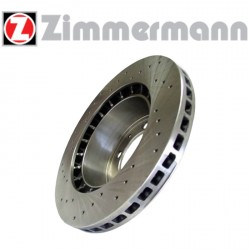 Disque de frein sport/percé Avant ventilé 256mm, épaisseur 24mm Zimmermann Volvo S40 / V40 1.8 16v, 2.0i 16v