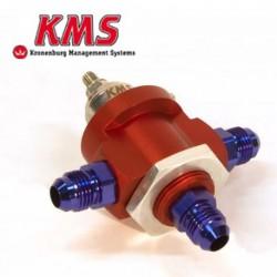 Régulateur de pression d'essence réglable 0-5bar | 3 voies DASH 6 | KMS Van Kronenburg