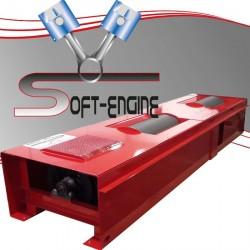 Banc de de puissance freiné voiture 750ch Soft-Engine Braker 400 2x2 Mono rouleau Rouge