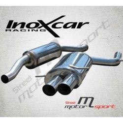 Echappement sport/route INOXCAR Racing Bmw 320i (150ch) 1998- | Silencieux arriére Street deux sorties rondes Ø80mm X-RACE BLAC