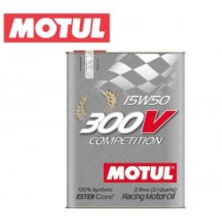 Motul 300V COMPETITION 15W50 Huile Moteur 100% Synthèse | Bidon 2L